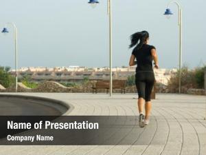Morning woman jogging