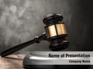 Jurisdiction wooden gavel