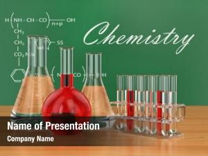 Blackboard chemical flasks formulas