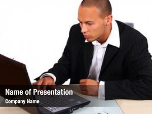 Laptop businessman working young businessman