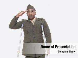 American disabled african military officer