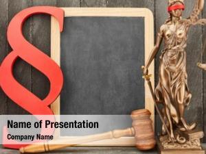 Justitia blank blackboard law law