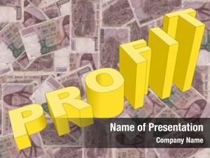 Graph profit text korean won