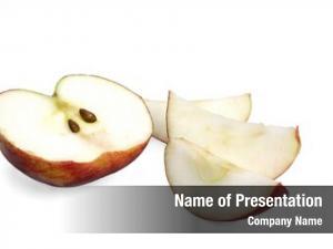 Cortland half ripe apple apple