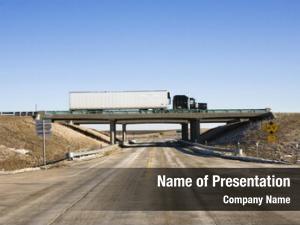 Truck tractor trailer overpass