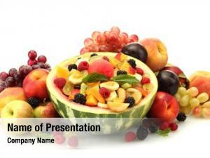 Salad fresh fruits watermelon, fruits
