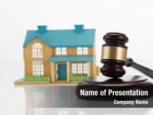 House gavel wooden home buying