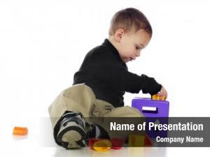 Putting adorable preschooler pieces into