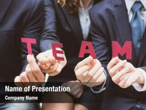 Holding business team text paper