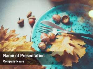 Thanksgiving dinner powerpoint theme
