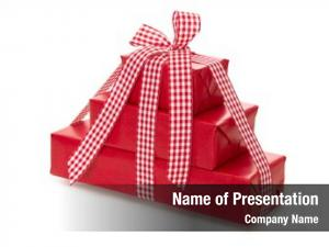 Red presents wrapped paper