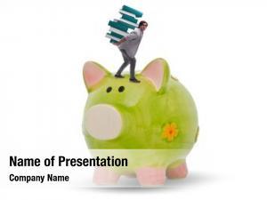 Concept student debt piggybank student