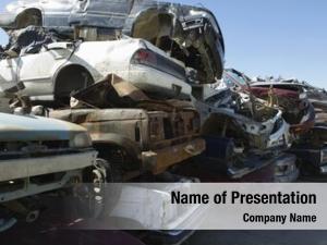 Junkyard stacked cars