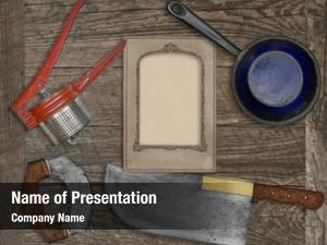 Knife vintage kitchen utensils over