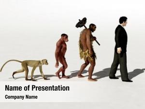 Modern ape, primitive man