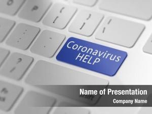 Help concept online corona virus