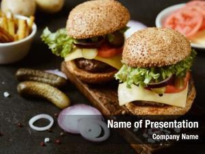 Homemade delicious fresh burger