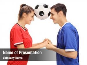 Female footballer powerpoint theme