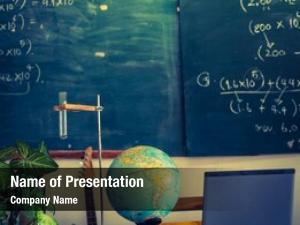 Table laptop globe teacher filtered