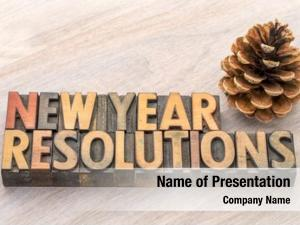 Resolutions new year word abstract
