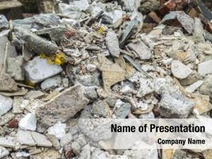 Rubble and bulky powerpoint template