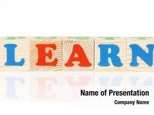 Formed learn word colorful wooden