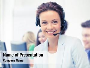 Center business call concept helpline