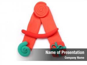 Christmas alphabet powerpoint template