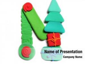 Christmas alphabet color plasticine