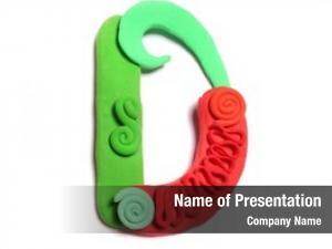 Art alphabet color plasticine