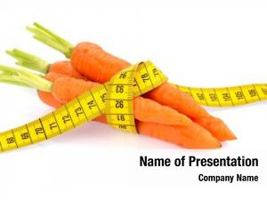 Carrots organically grown tape measure