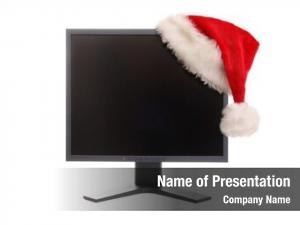 Monitor black lcd red santa