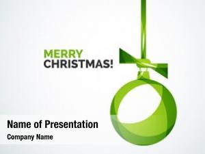 Card merry christmas abstract ball,