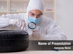 Car expert looking accident evidence