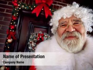 Santa portrait happy claus  happy