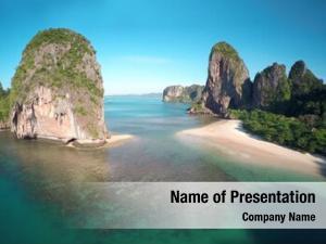 Tropical aerial view beach (pranang
