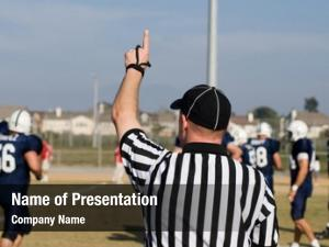 First referee signals down team
