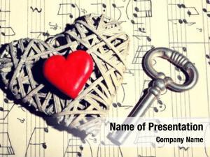 Hearts retro key music book
