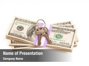 Stack house keys money isolated