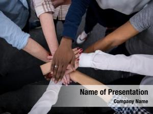 Young multiethnic group business people