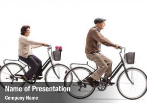 Elderly elderly woman man riding