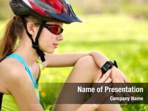 Girl bikes cycling