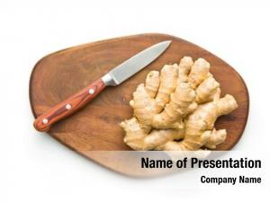 Root healthy ginger cutting board