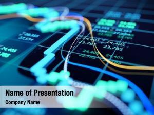 Digital close shot stock market