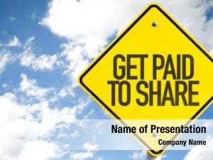 Share get paid sign sky
