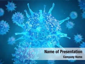 Close render medical virus cell