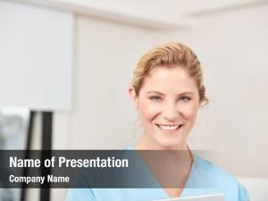 Training young woman nurse geriatric