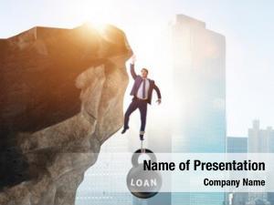 Load concept debt businessman