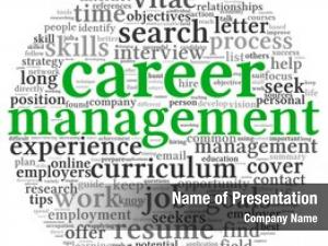 Concept career management word tag