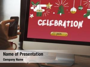 Social networks festive christmas decoration